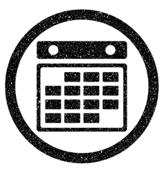Month Calendar Rounded Grainy Icon vector image