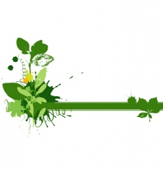Green vignette vector
