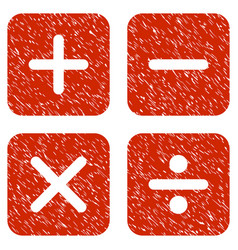 calculator grunge icon vector image