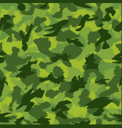 War green jungle camouflage seamless pattern can vector