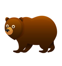 brown bear cute cartoon character vector image