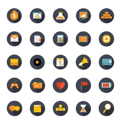 Set of flat icons vector