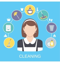 Cleaning concept vector