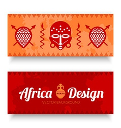 African tribal art banners vector