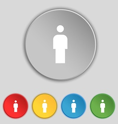 Human man person male toilet icon sign symbol on vector