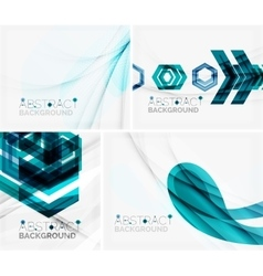 Set of abstract geometric backgrounds waves vector