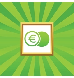 Euro coin picture icon vector