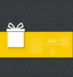Gift box on a narrow banner vector