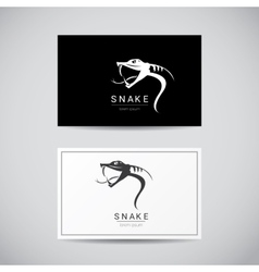 Snake simple black logo design element vector
