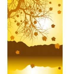 autumn landscape vector image