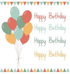 Baloons-happy-birthday vector