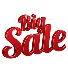 Big sale sign isolated icon vector image vector image
