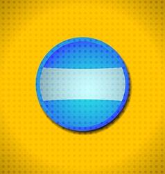 Blue button frame vector image