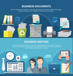 Business items flyer set vector