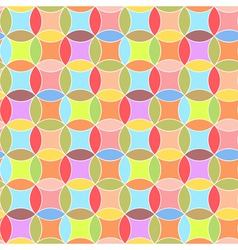 Circles Abstract Seamless Pattern Background vector image