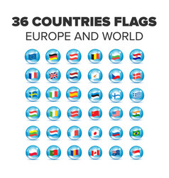 Countries flags set vector