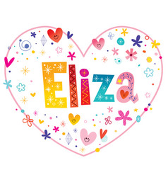 Eliza girls name vector