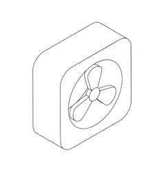 Exhaust fan icon isometric 3d style vector