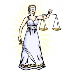 Femora godess of justice vector image