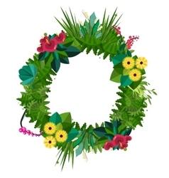Flat colorful circular floral wreaths vector