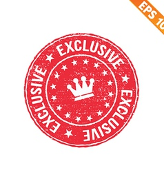 Grunge exclusive rubber stamp - - EPS10 vector image vector image
