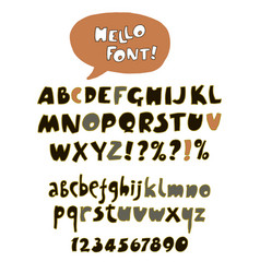 Hand drawn retro color font vector