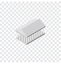 Isolated acropolis isometric athens vector
