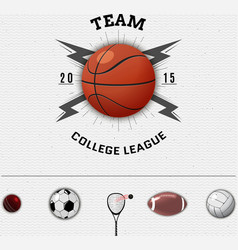 League college insignia and labels for any use vector
