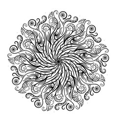 mandala coloring book vector image
