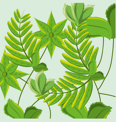 nature branches plants with leaves vector image