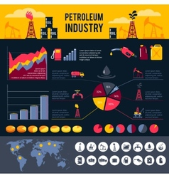 Petroleum infographics set vector