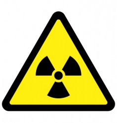 radiation triangular sign vector image