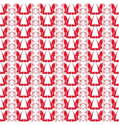 Red and white repeating patterns vector image vector image