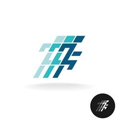 Running man logo running athlette symbol in corner vector