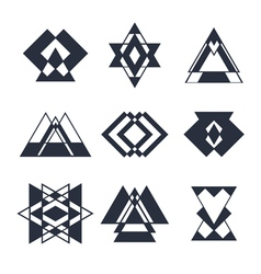 Set of abstract geometric elements trendy hipster vector image vector image