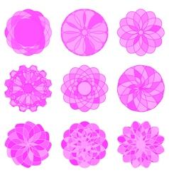 Set of Circle Geometric Ornaments vector image vector image
