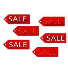 Set of six sale text vector