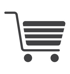 shopping glyph icon web and mobile store sign vector image