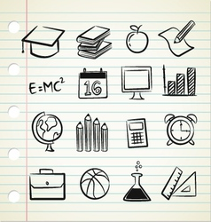sketchy education vector image