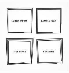 Squares doodle set vector