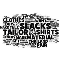 Thailand tailors text background word cloud vector