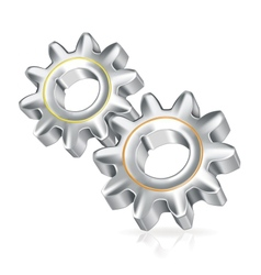 Two gears icon icon vector image vector image