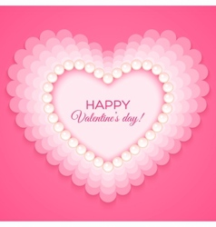 Valentines heart on pink background vector image vector image