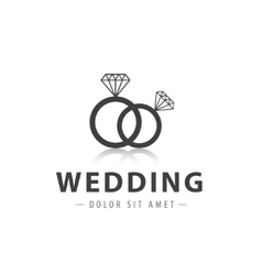 Wedding rings logo vector