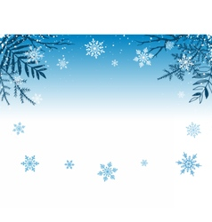 Winter snowy background vector