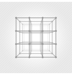 Wireframe mesh square vector