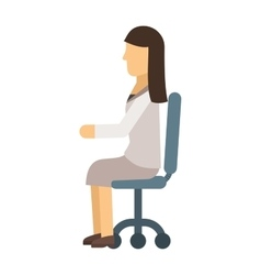 Woman sitting vector