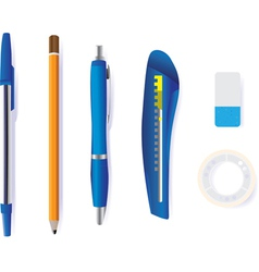 Stationary items vector