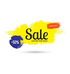 Advertising banner sale 50 percent off limited vector