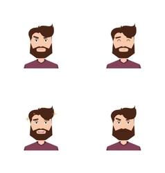 Cute men face vector image